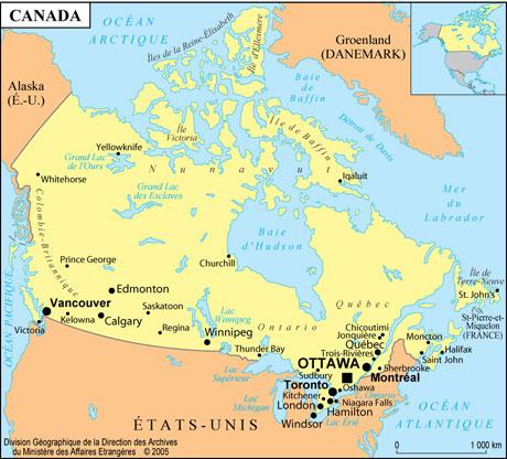 Carte Canada Montreal.Carte Du Canada La France Au Canada France In Canada